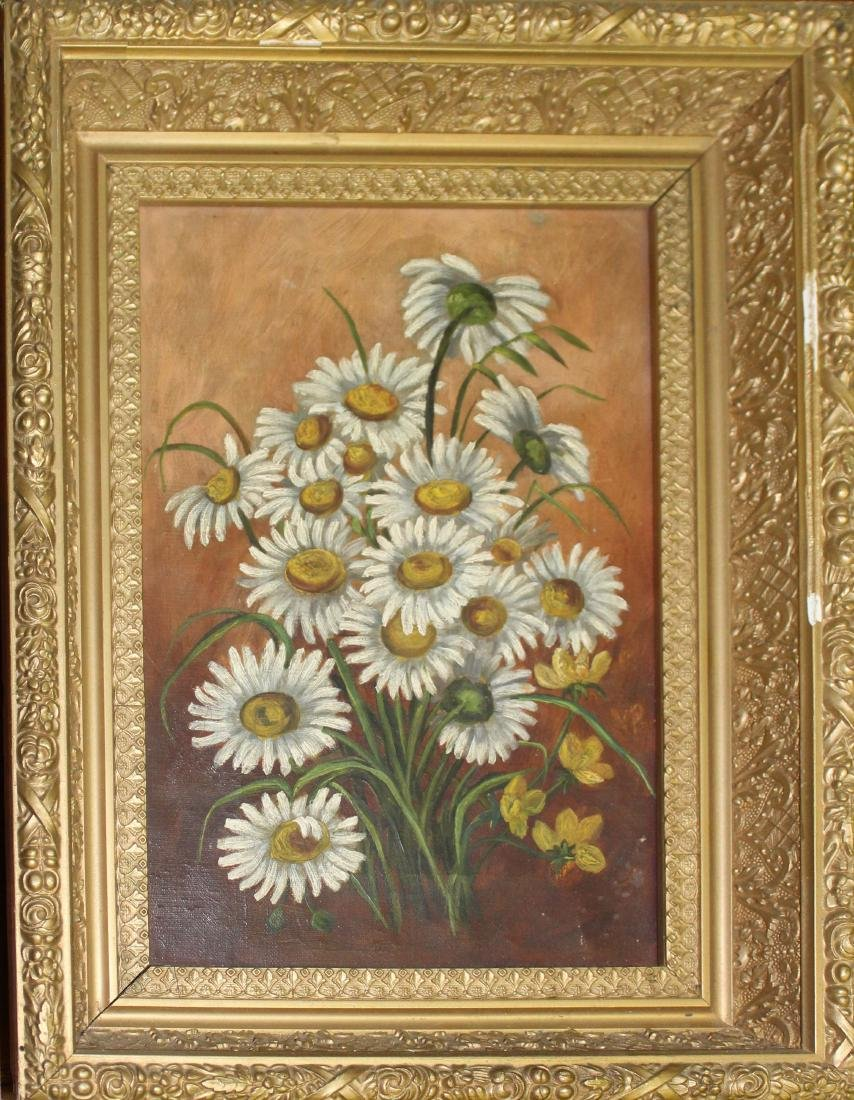 19th c still life with daisies