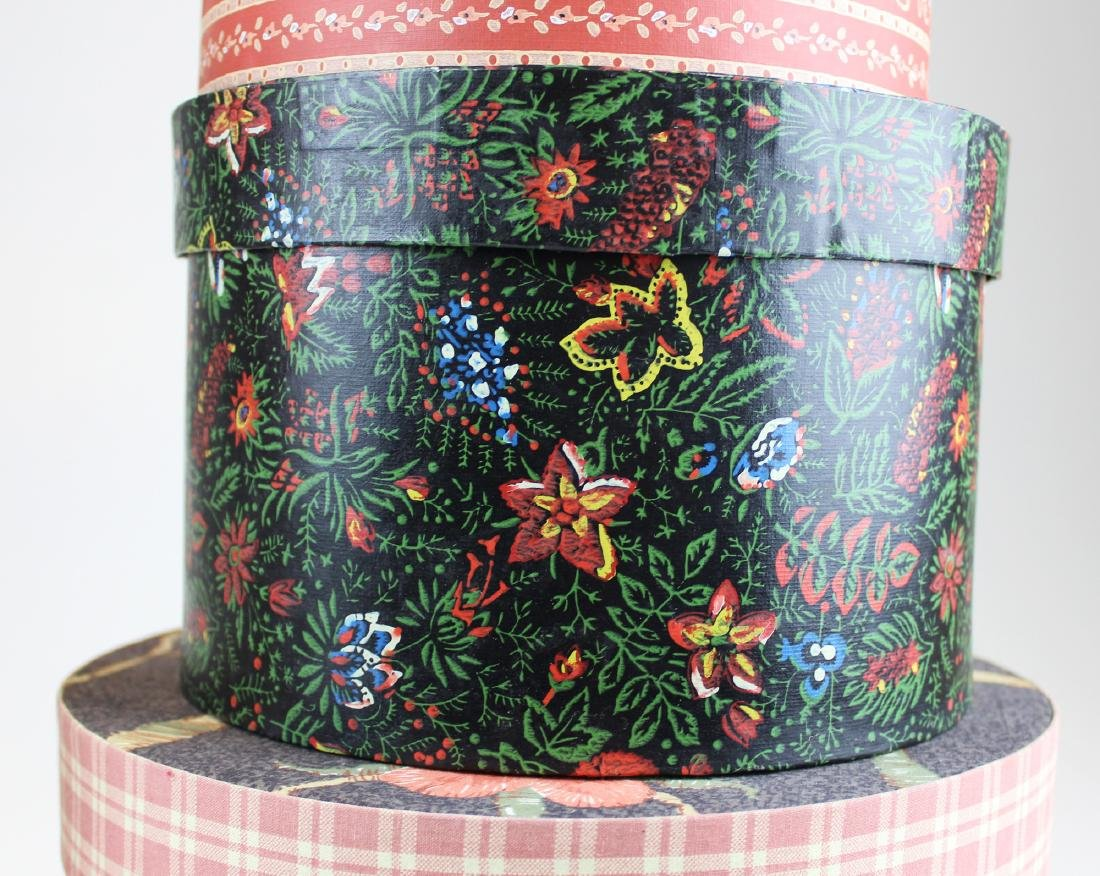 collection of late 20th c wallpaper band boxes - 4
