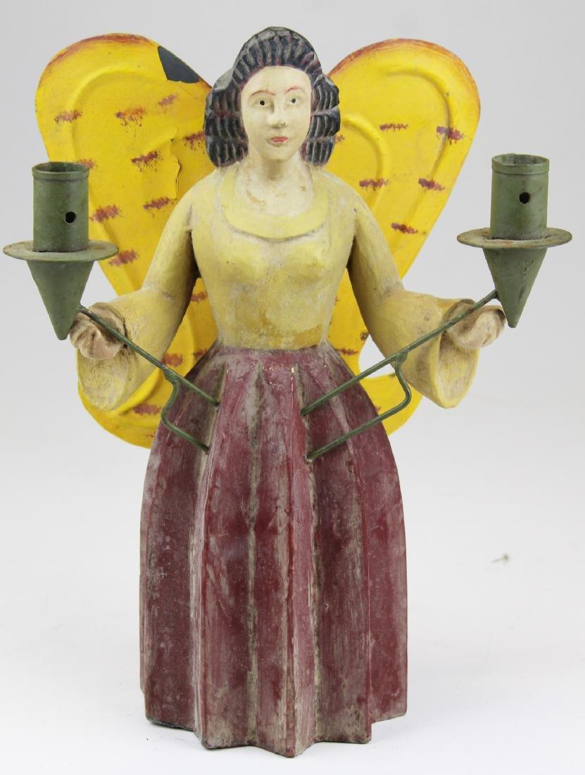 vintage German erzgebirge angel candle holder