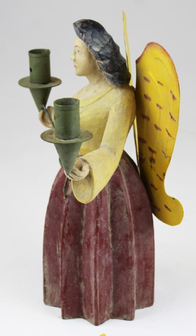vintage German erzgebirge angel candle holder - 2