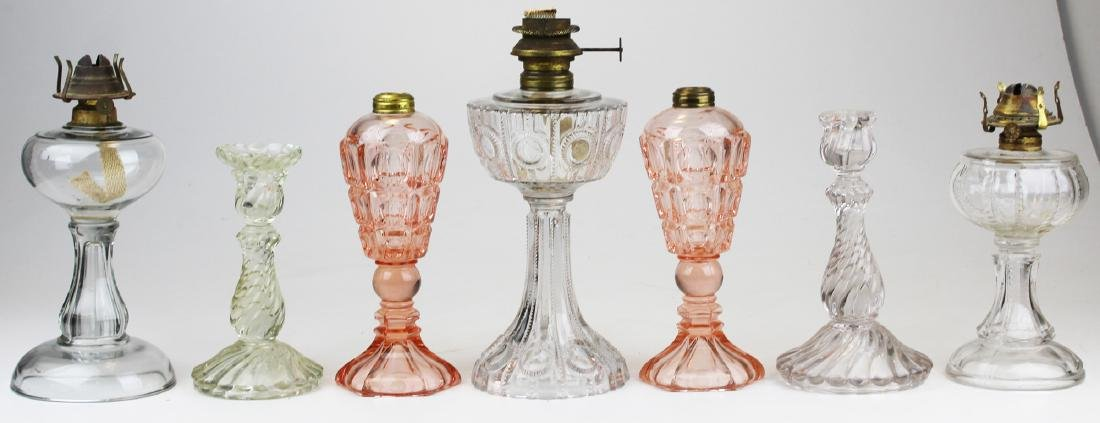 early 20th c glass lamps & lighting