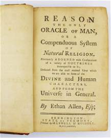 """1784 Ethan Allen """"Reason, the Only Oracle of Man"""""""