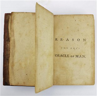 1784 Ethan Allen Reason The Only Oracle Of