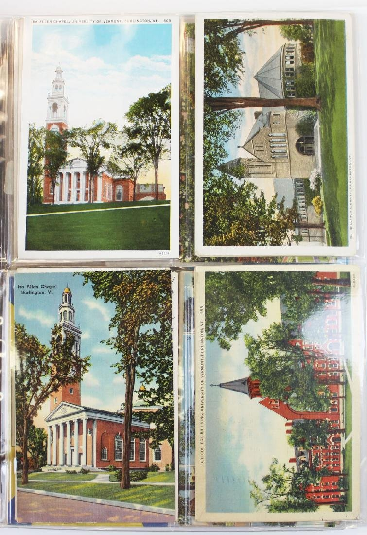 large binder of Burlington, Vermont postcards - 11