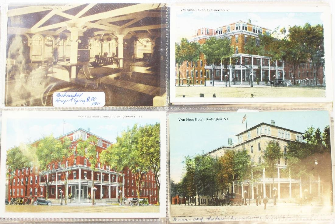 large binder of Burlington, Vermont postcards - 13