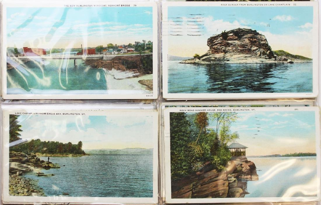 large binder of Burlington, Vermont postcards - 14