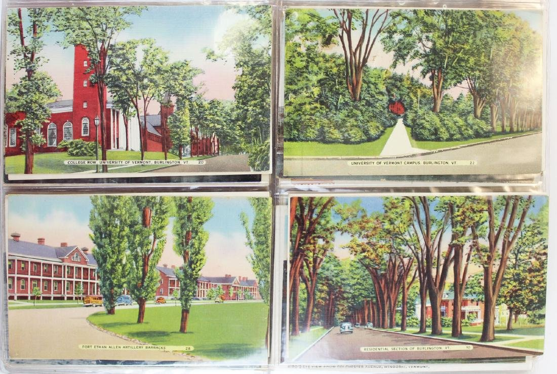 large binder of Burlington, Vermont postcards