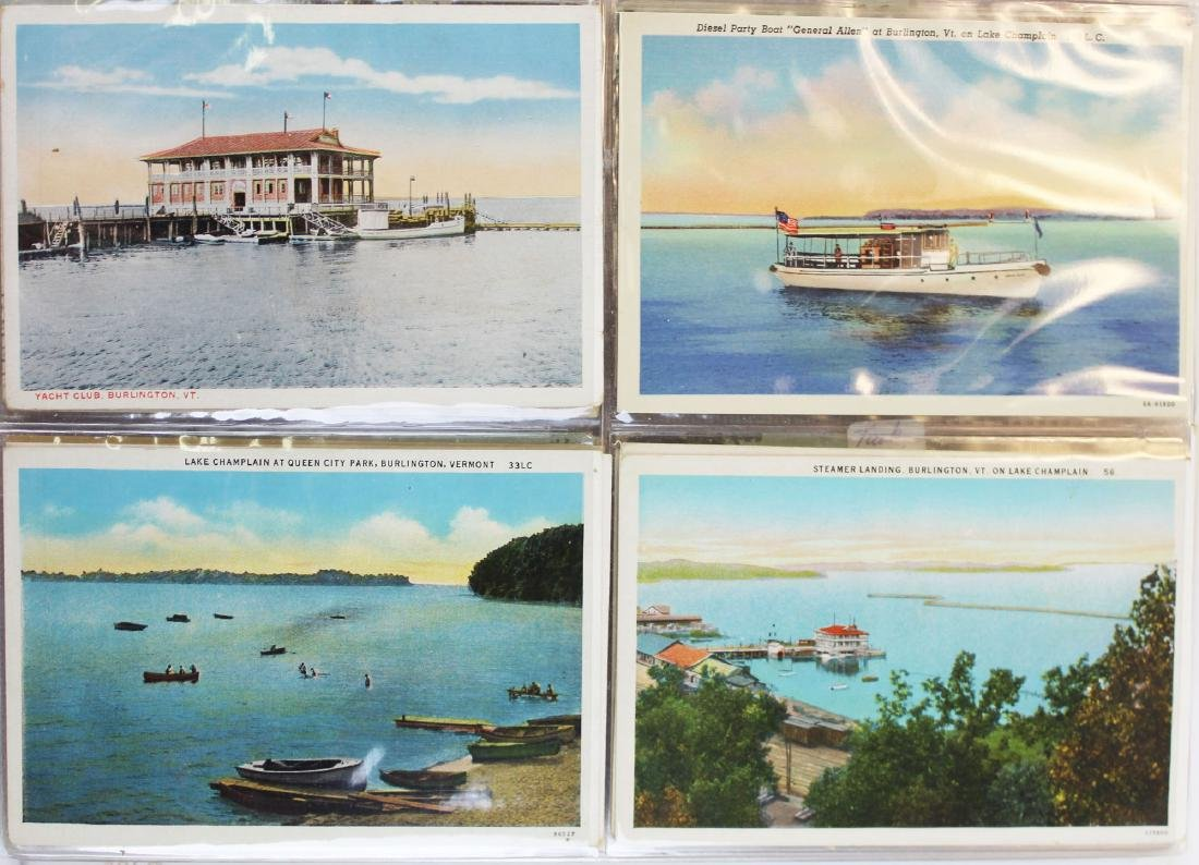 large binder of Burlington, Vermont postcards - 3