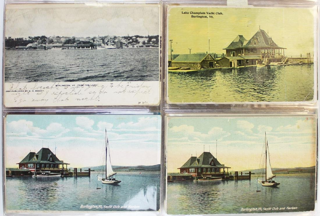 large binder of Burlington, Vermont postcards - 5