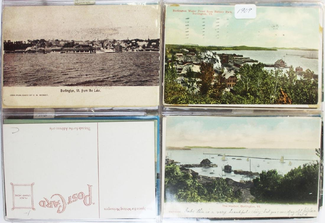 large binder of Burlington, Vermont postcards - 6