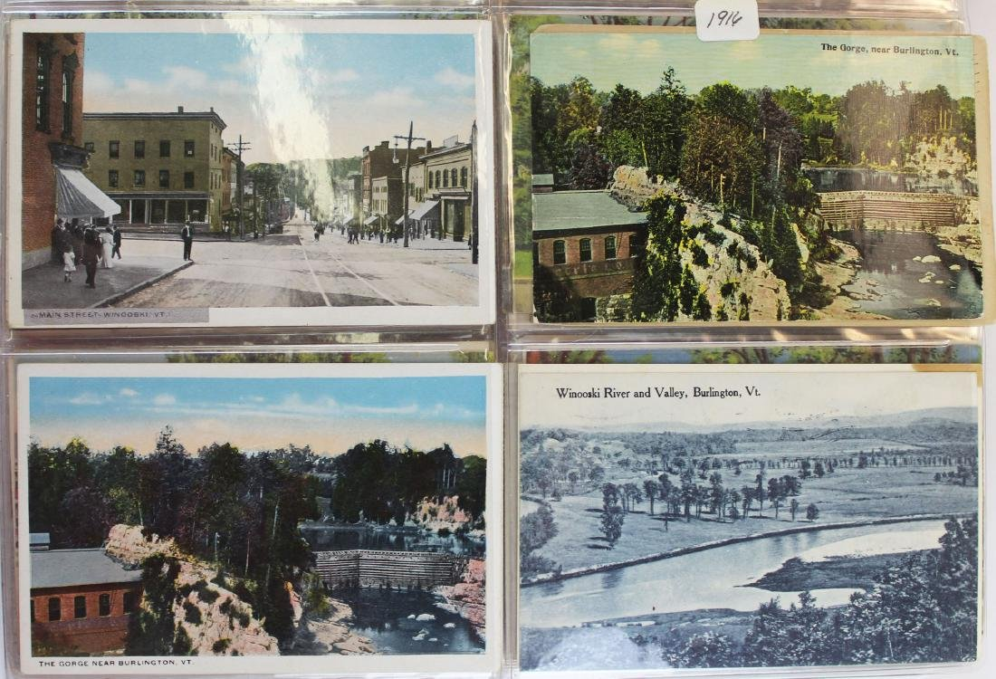 large binder of Burlington, Vermont postcards - 9