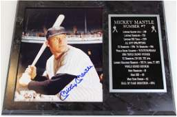 Signed Mickey Mantle photograph