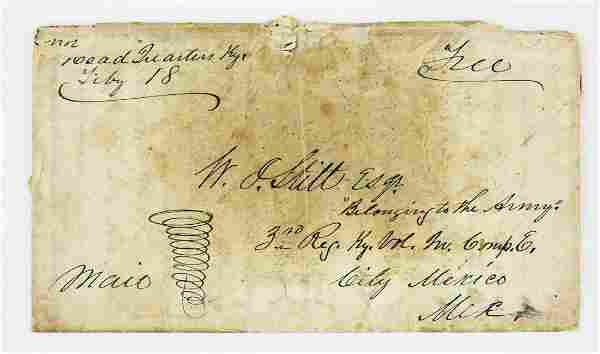 1848 Mexico City 3rd Regt KY Vols letter