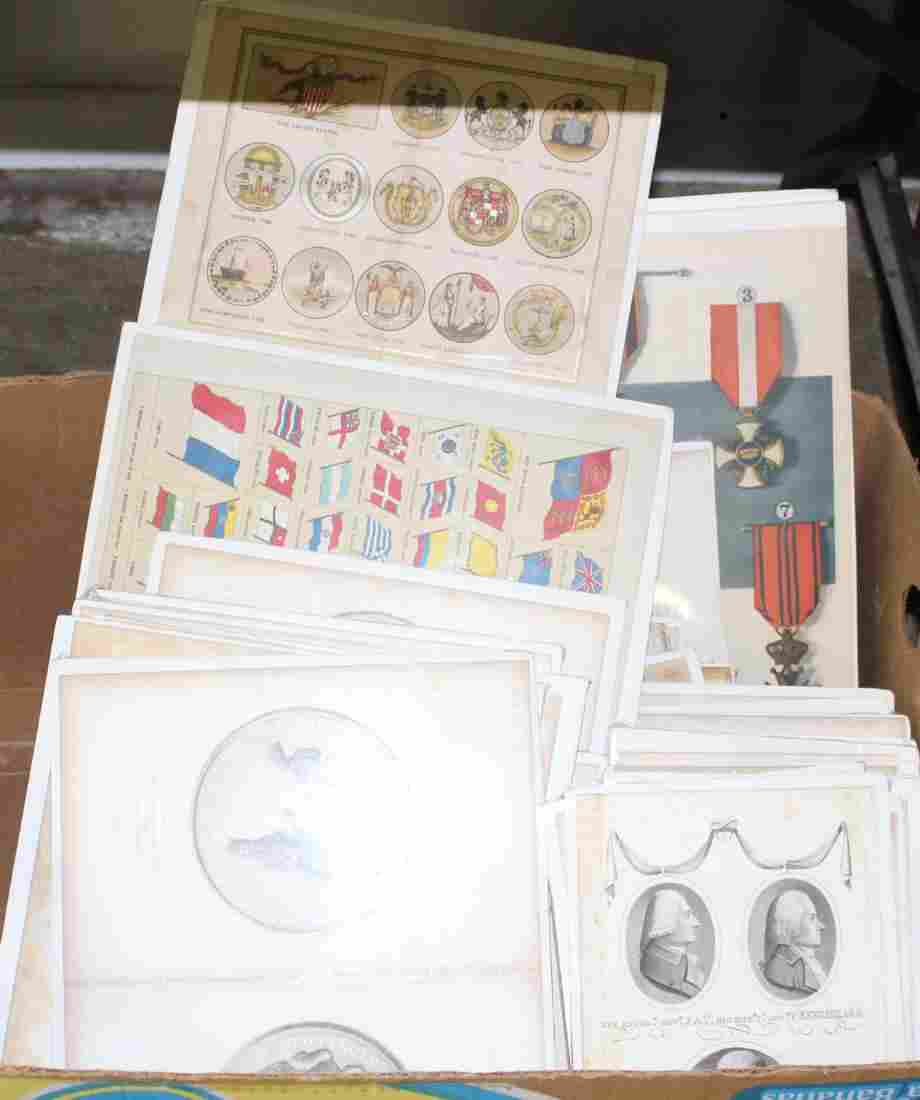 Lot of bookplate prints including Heraldry