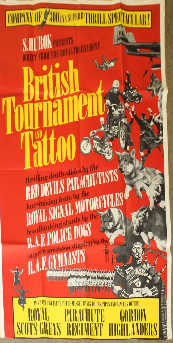 2 British Tournament and Tattoo posters