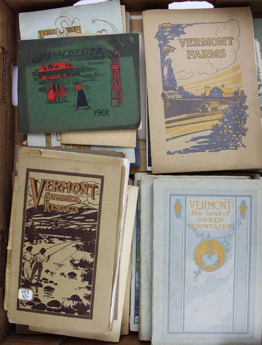 late 19th- early 20th c VT travel pamphlets