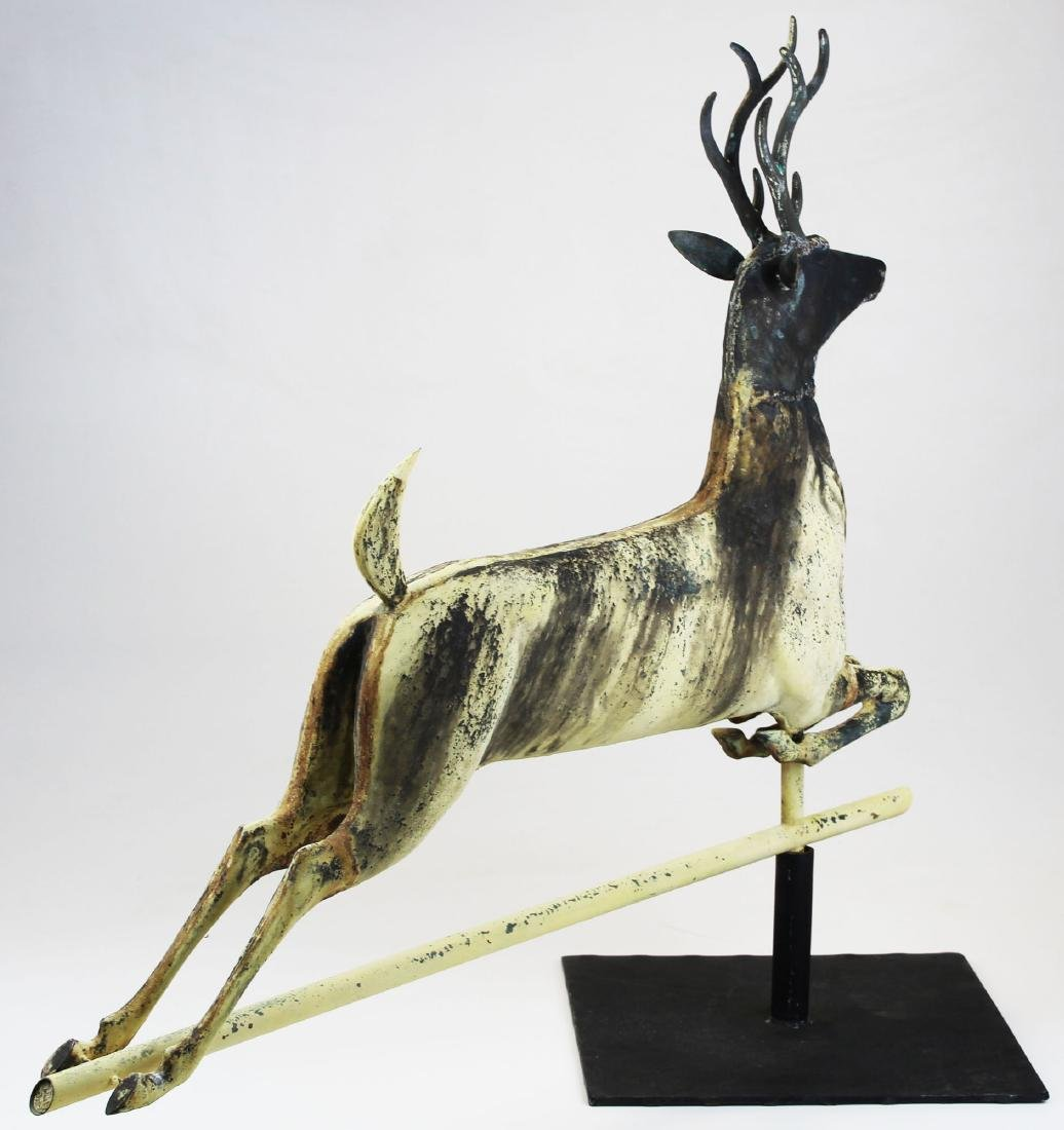 late 19th- early 20th c leaping stag weathervane - 2