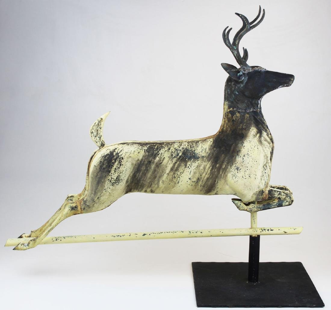 late 19th- early 20th c leaping stag weathervane - 3