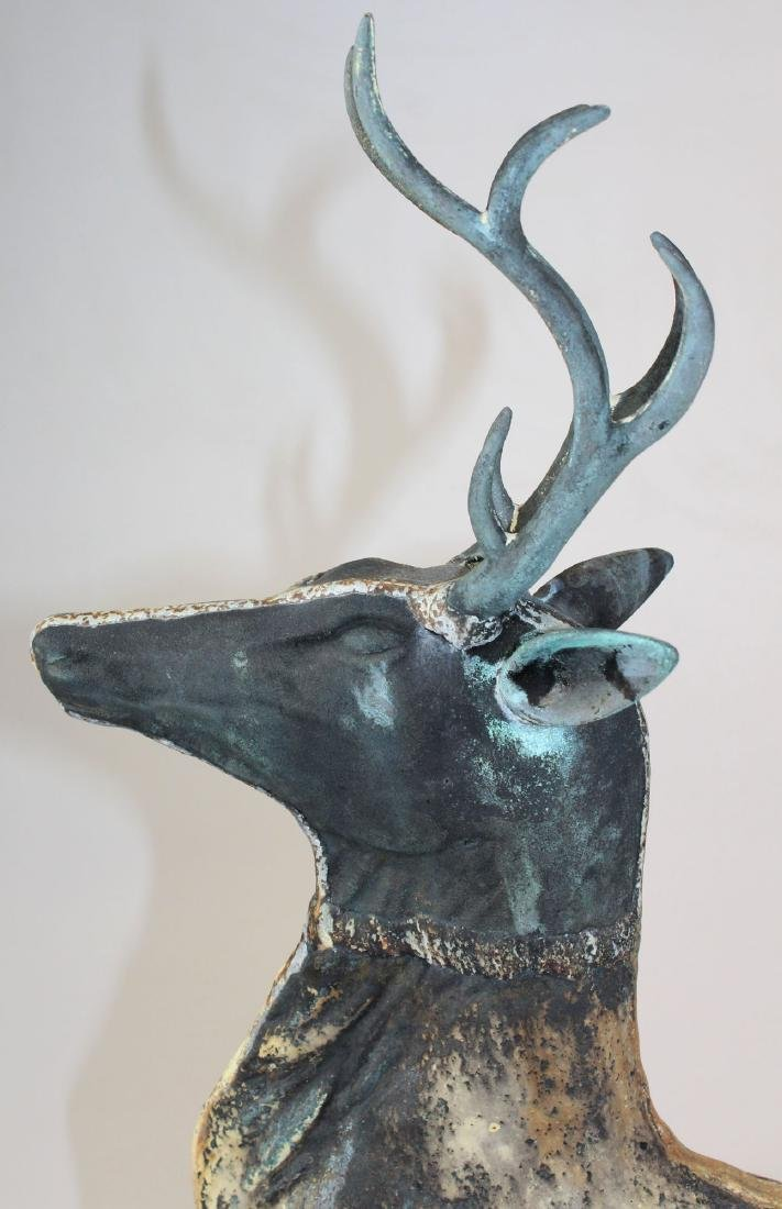 late 19th- early 20th c leaping stag weathervane - 4