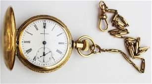 14k yg Waltham pocket watch