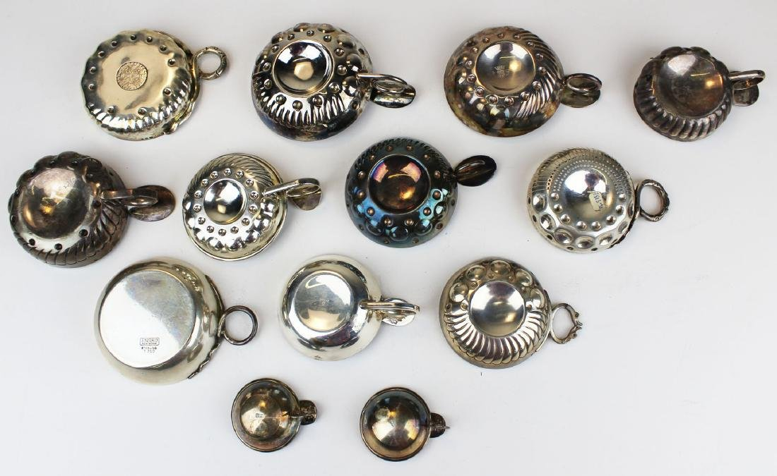 13 sterling and coin silver wine tasting cups - 3
