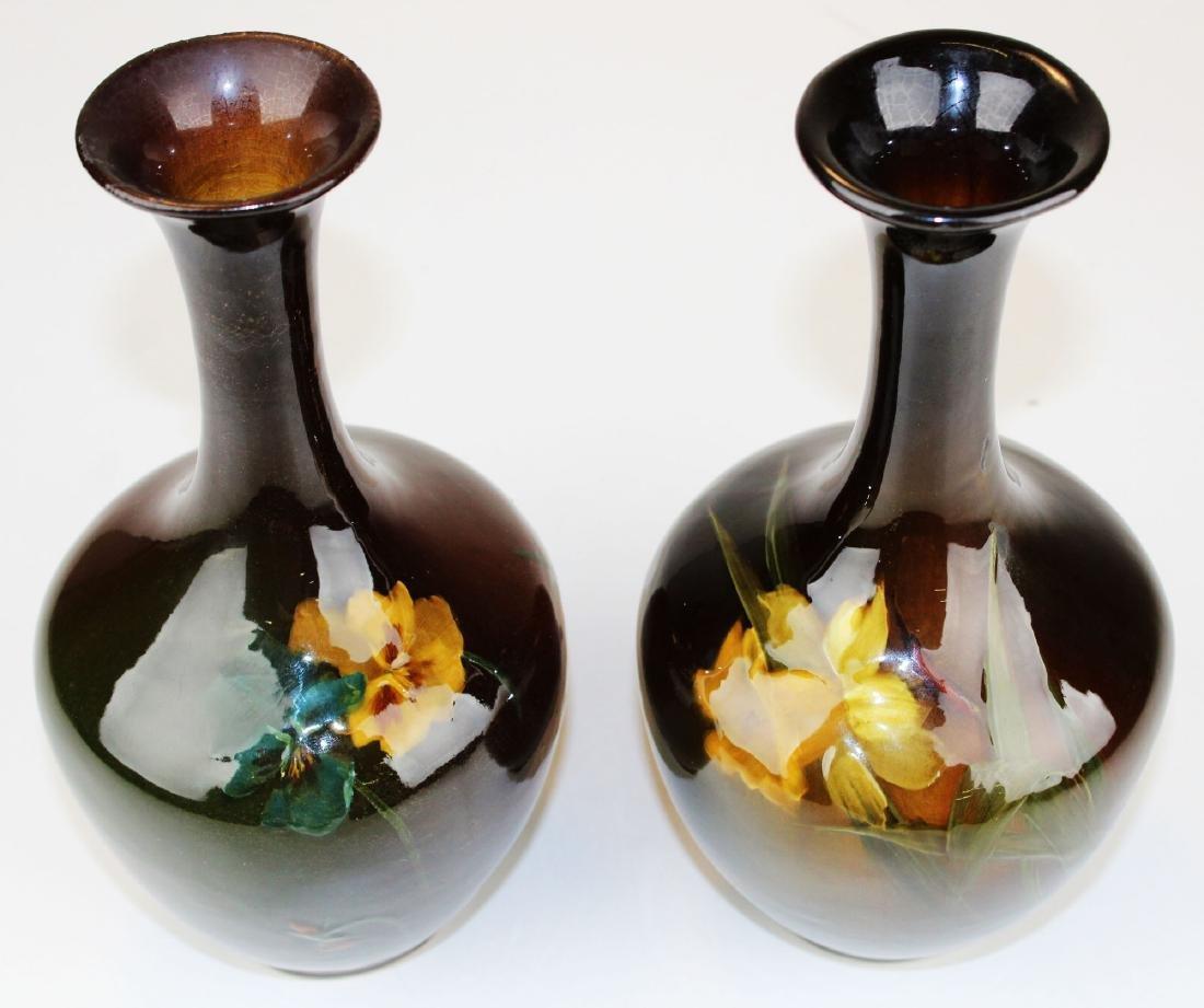 2 Louwelsa Weller floral decorated vases - 3