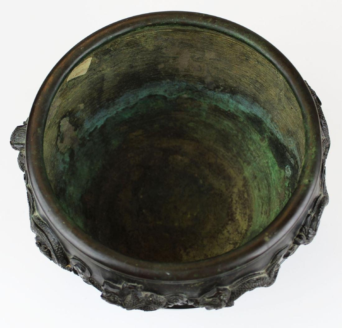 late 19th- early 20th c Japanese bronze vessel - 2