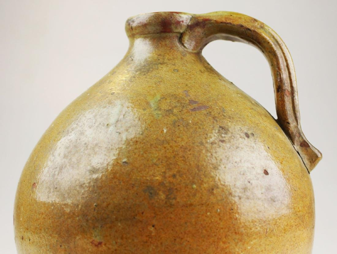 early 19th c Vermont redware ovoid jug - 5