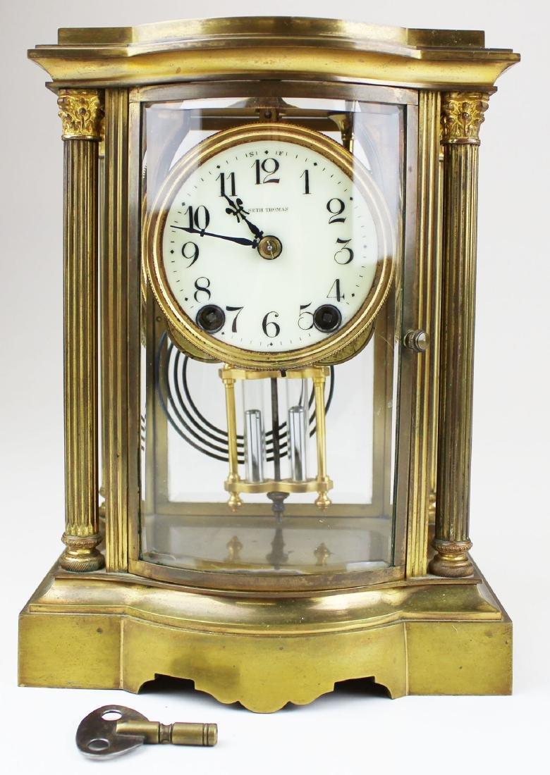 early 20th c Seth Thomas crystal regulator - 6