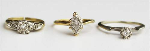 3 small diamond engagement rings