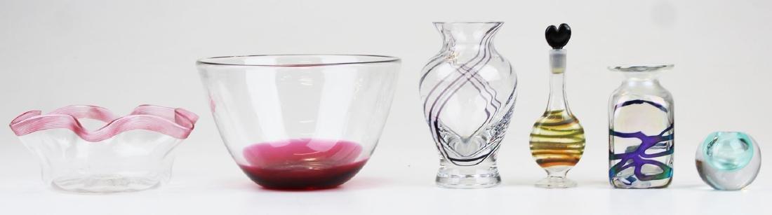 6 pcs. Contemporary studio art glass