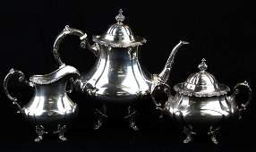 Reed & Barton sterling silver 3 pc. tea set