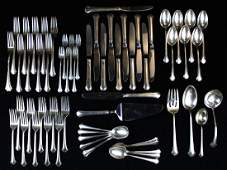 54 pcs. Towle Chippendale sterling flatware