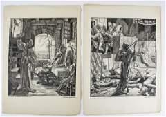 2 19th c Alfred Rethel engravings