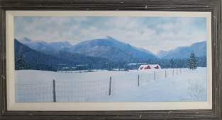 Two Lynn Benevento winter scenes