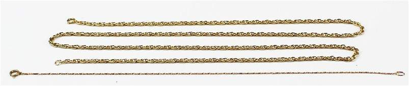 14k yellow gold chain and bracelet