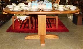 Pompanoosuc Mills Round Oak table