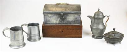 18th- early 19th c pewter, tin