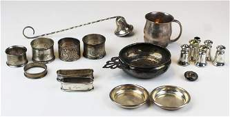 lot of various sterling silver hollowware