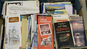 lot of vintage 1930s1960s travel paper
