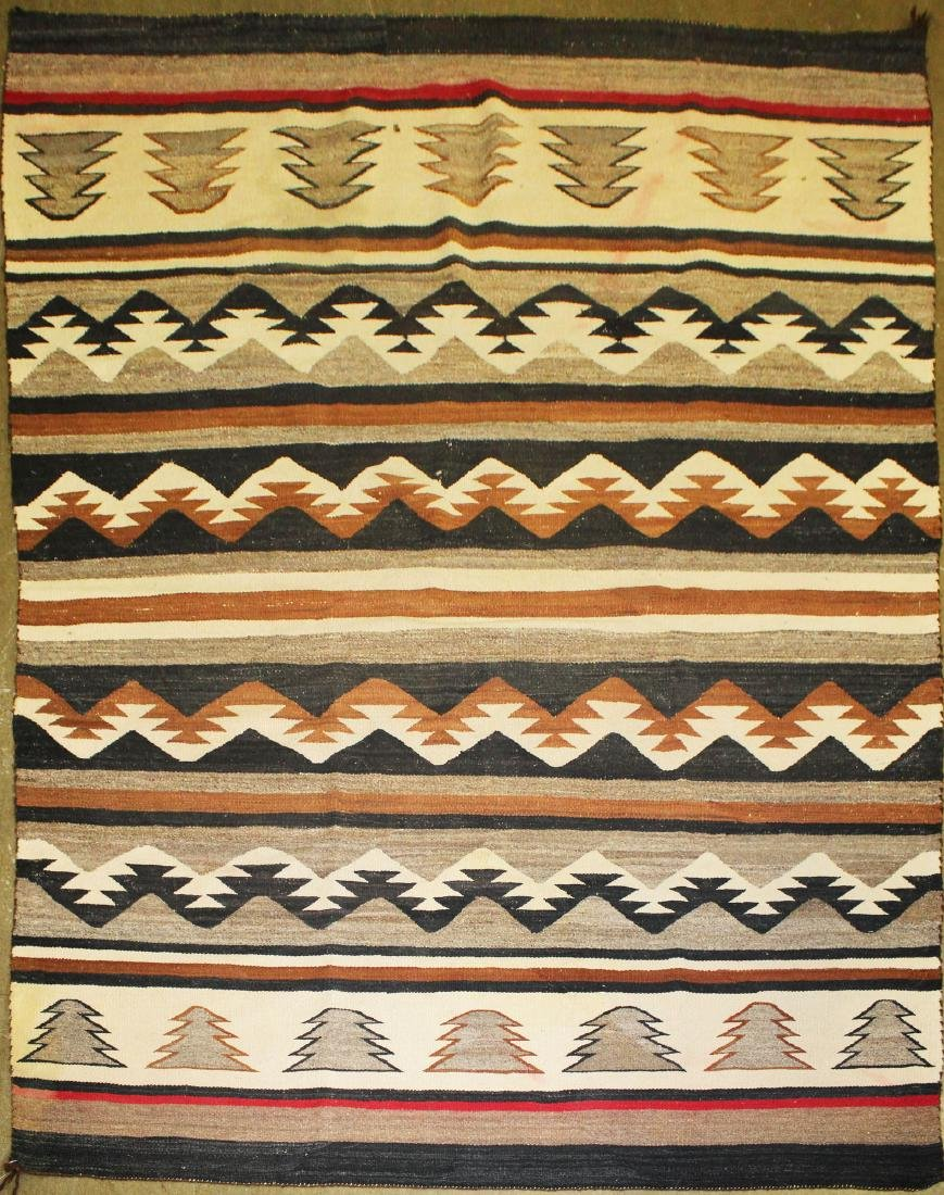 early 20th c Navajo 5 color blanket - 2