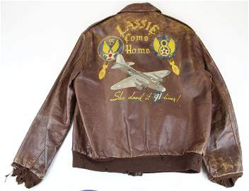 WWII era A-2 Leather Jacket with 8th & 15th Air Force