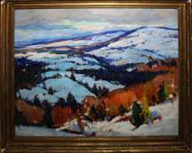 Emile A Gruppe (VT 1896-1978) Vermont Hills