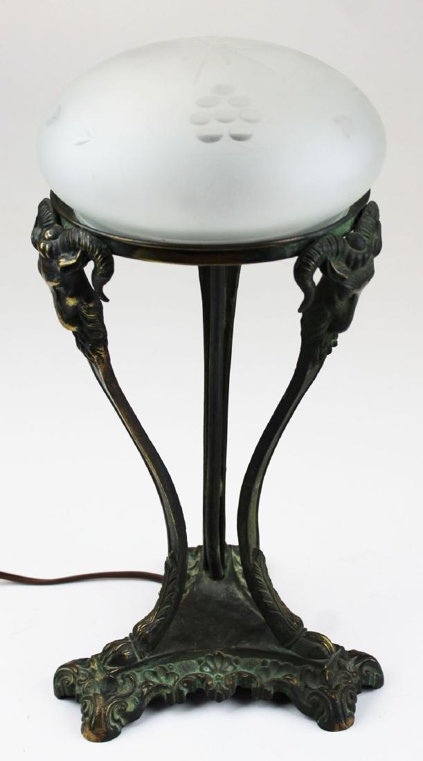 early 20th c Italianate bronze boudoir lamp