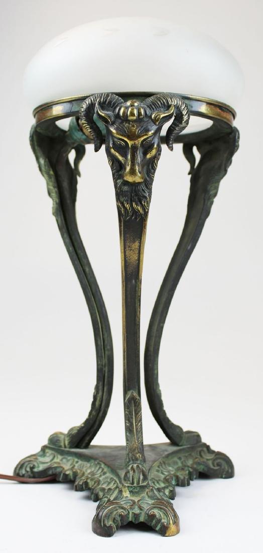 early 20th c Italianate bronze boudoir lamp - 2