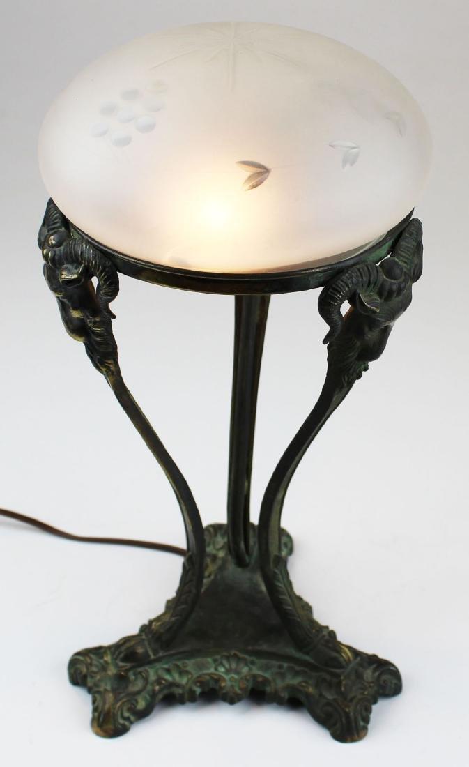 early 20th c Italianate bronze boudoir lamp - 7