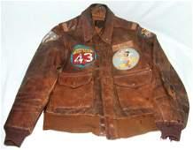 WWII Era US A2 Leather Aviators Jacket