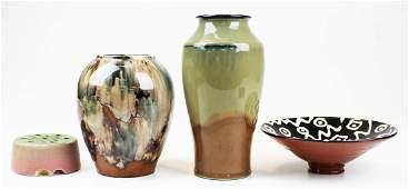 4 pcs. art pottery incl. Craig Bird bowl, etc.