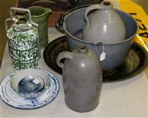 lot of country stoneware and kitchenware