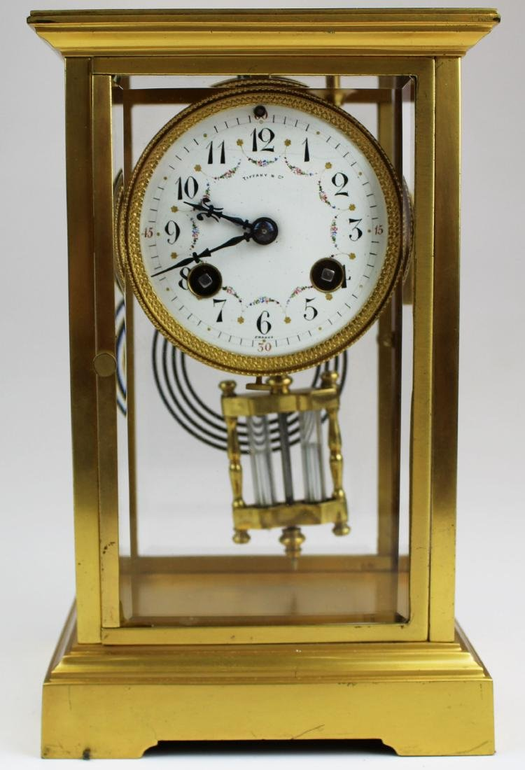 ca 1900 Tiffany & Co French gilt brass clock